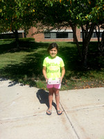 Emma's Frist day of School Second Grade -  Aug 13, 2013